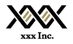 xxx株式会社のロゴ